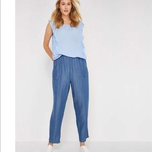 Chambray pants/jeans ankle length XS